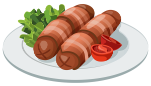 Grilled_Sausages_PNG_Vector_Clipart